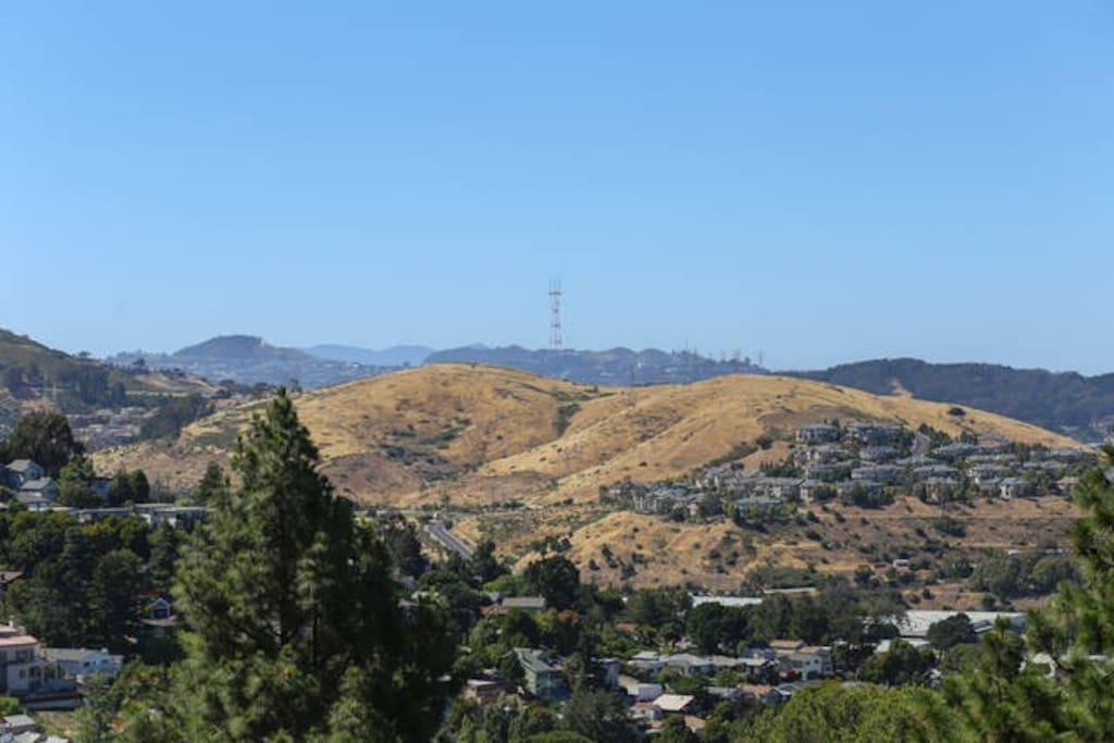 view of San Bruno mountains