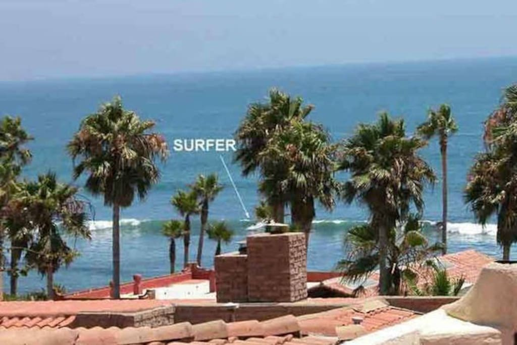 View of surf conditions from the patio