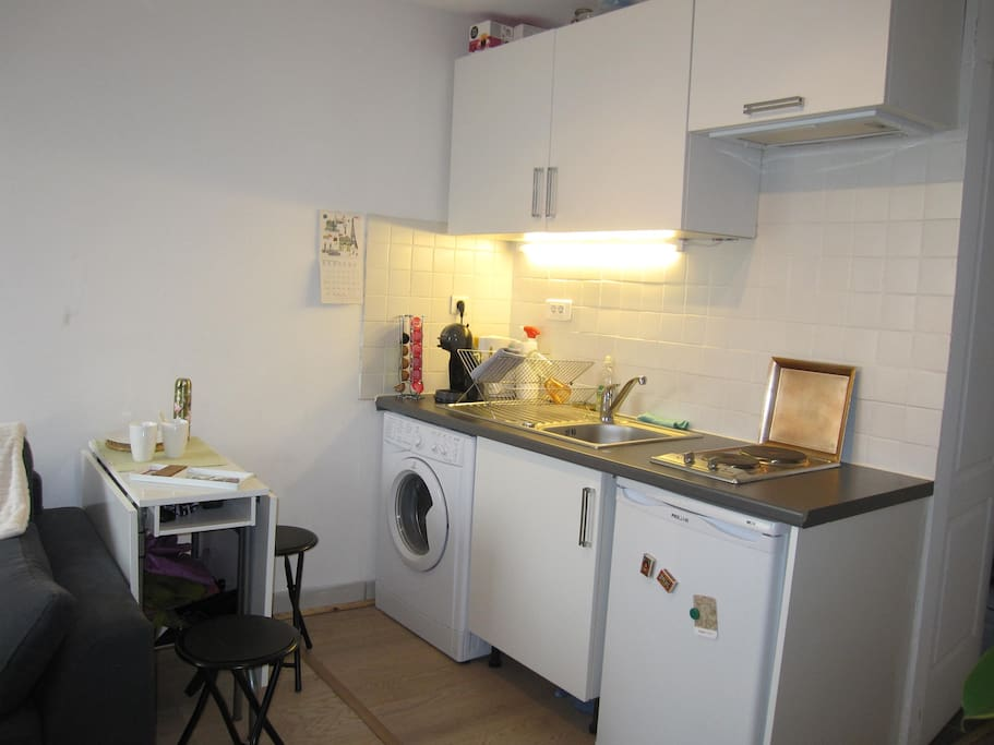 Kitchen, foldable table
