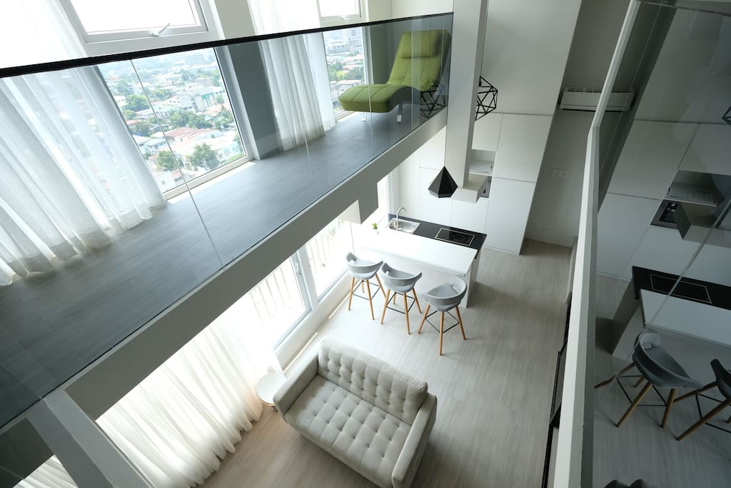 Designer 2BR Loft: View from the top