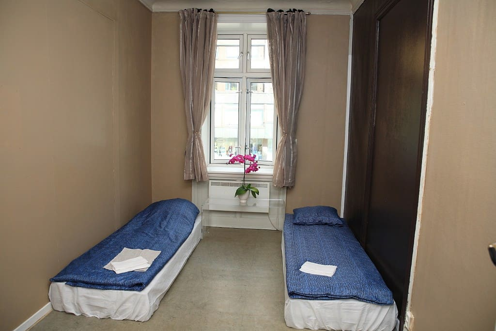 2 good single beds, basic but good!