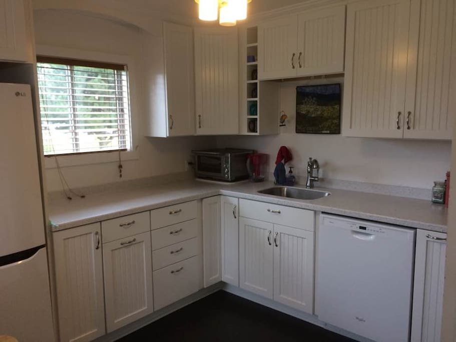 Newly remodeled kitchen with dishwasher