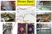 Many Onsen (SPAs) around YabFarm Lodge. You don't need to go to hot spring resort, e.g. Hakone.
