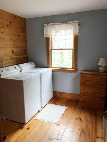 Washer and dryer for your use.