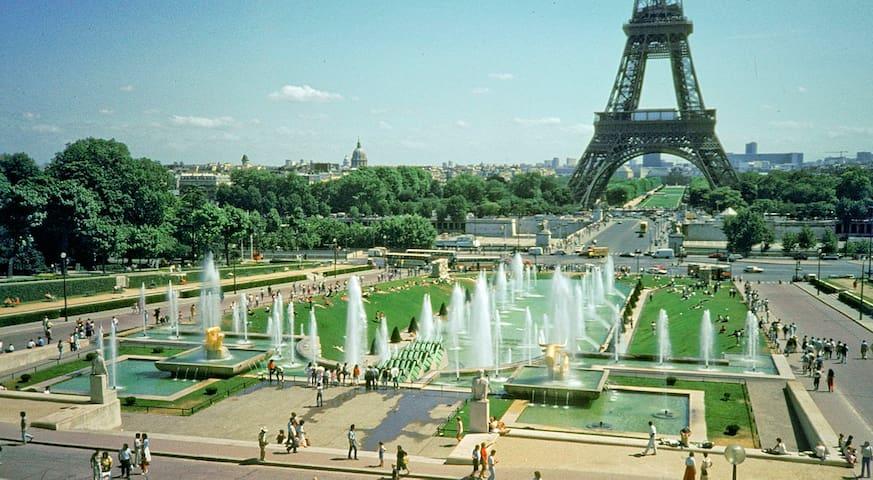 AAA Eiffel Tower round the corner!