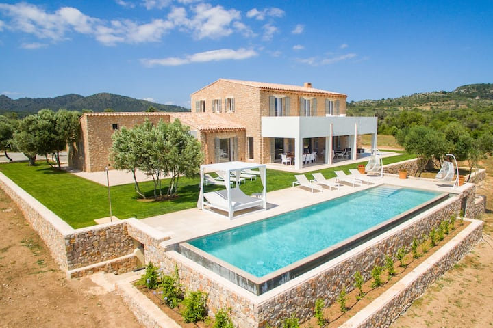 """Beautiful Holiday Home """"Finca Can Duai"""" with Mountain View, Garden, Pool, Terraces & WiFi; Parking Available"""