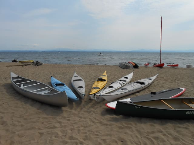 Sandy Beach Sport On Lake Champlain - Peru