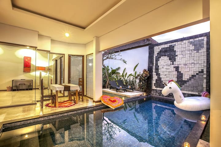 30N Stay 1BR Private Pool Garden Villa in Seminyak