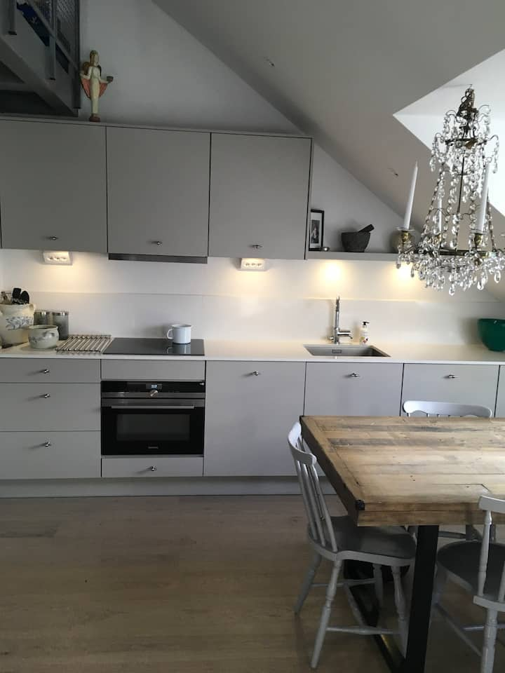 Two bedroom attic apartment in center Stockholm