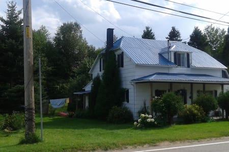 La maison au toit bleu - L'Anse-Saint-Jean - Дом