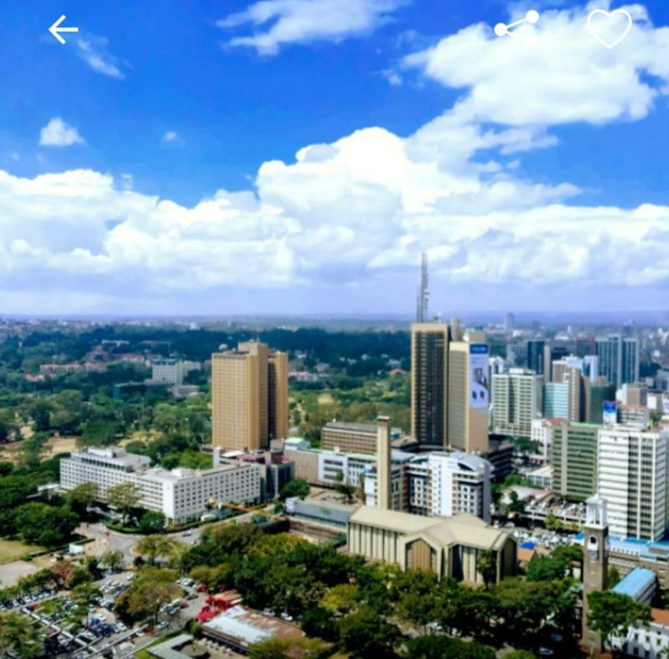 The city in the sun.Nairobi view..from balcony