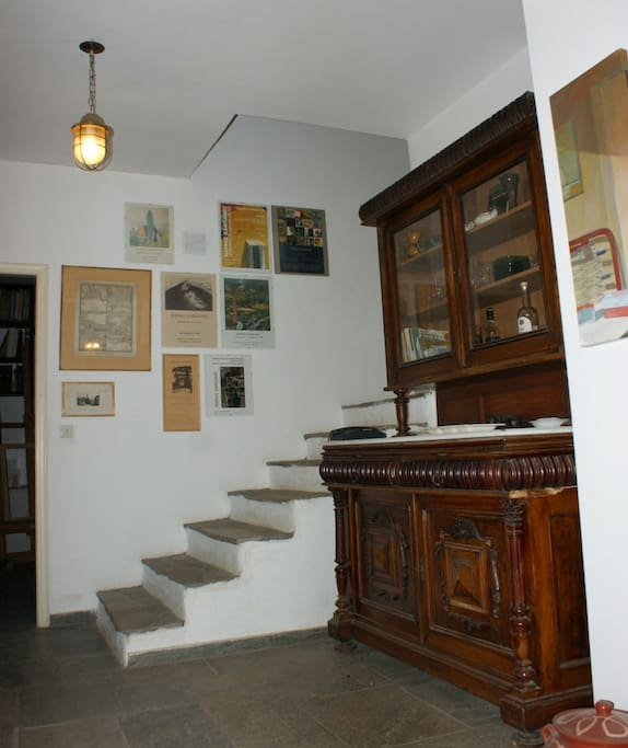 Entrance hall and staircase to upper floor.