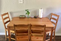 If you're in town for school or business this table makes a good work desk.
