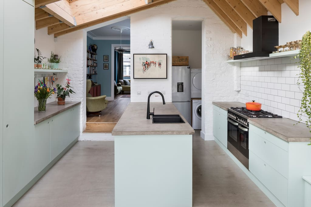 6m long kitchen leading on to garden