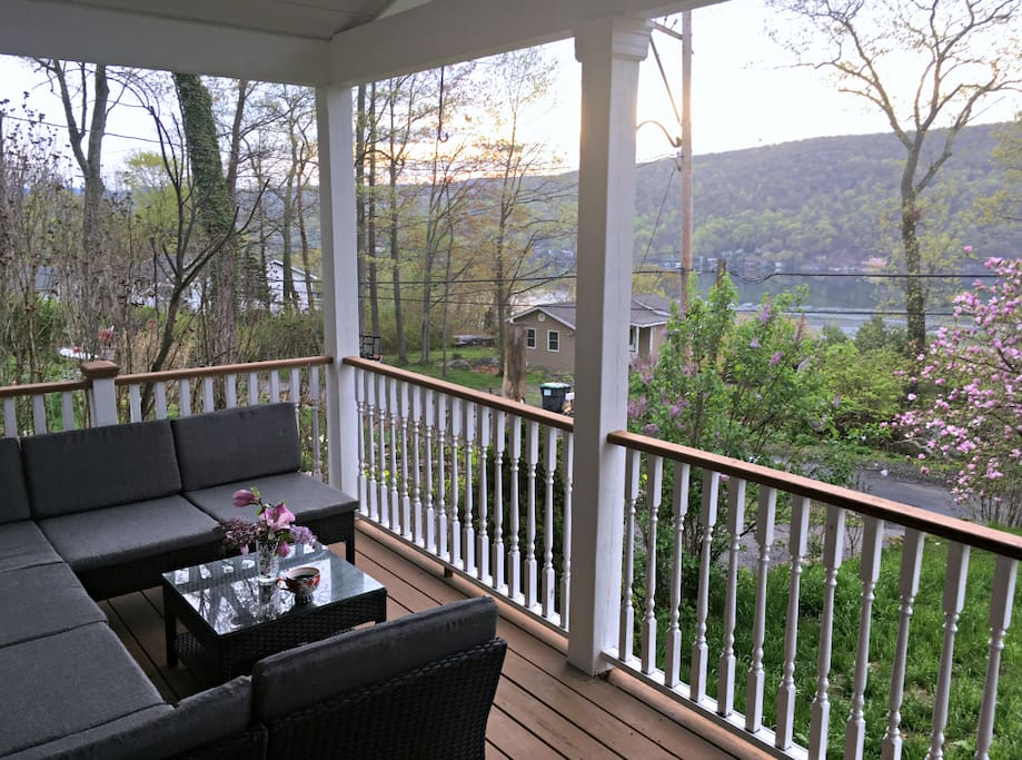 Front porch, overlooking lake