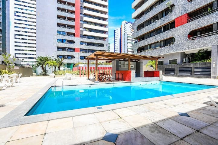 Flat/Hotel Praia de Boa viagem completo
