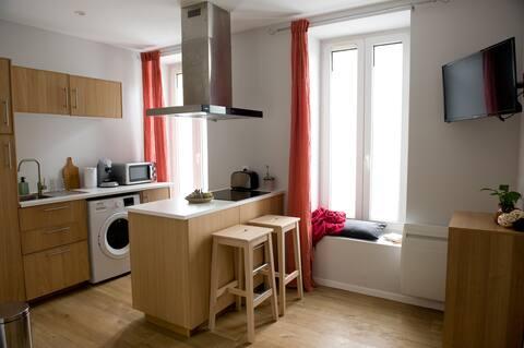 Appartement lumineux avec terrasse et jardin