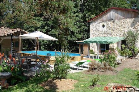 Moulin avec sauna et SPA, modulable de 2 à 4 pers - Saint-Pierre-du-Palais - Rumah