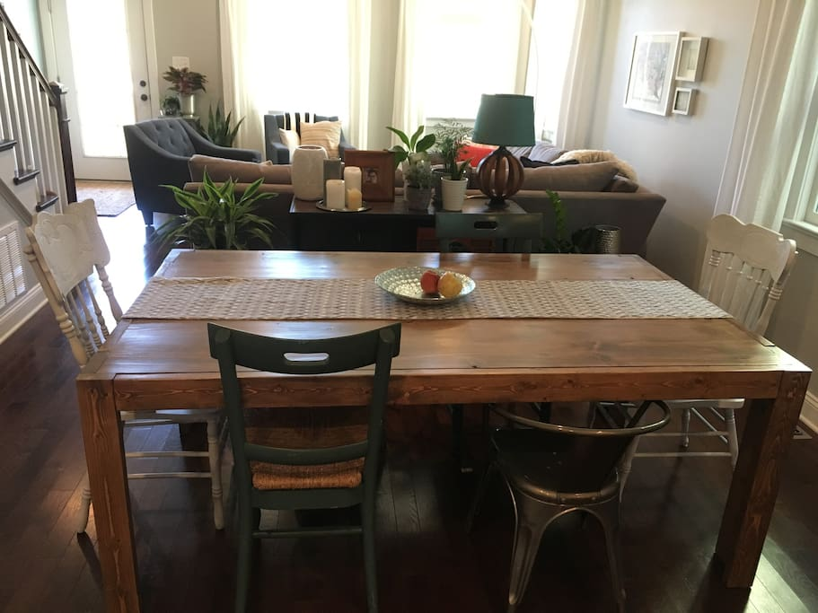 Dining table with space for 8