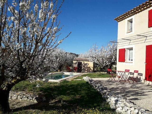 LUBERON, Le Petit Mas et piscine privée 2/3 pers - Saint-Saturnin-lès-Apt - บ้าน
