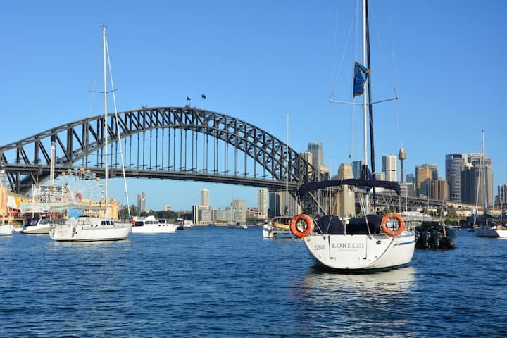 You can't get closer to The Sydney Harbour Bridge