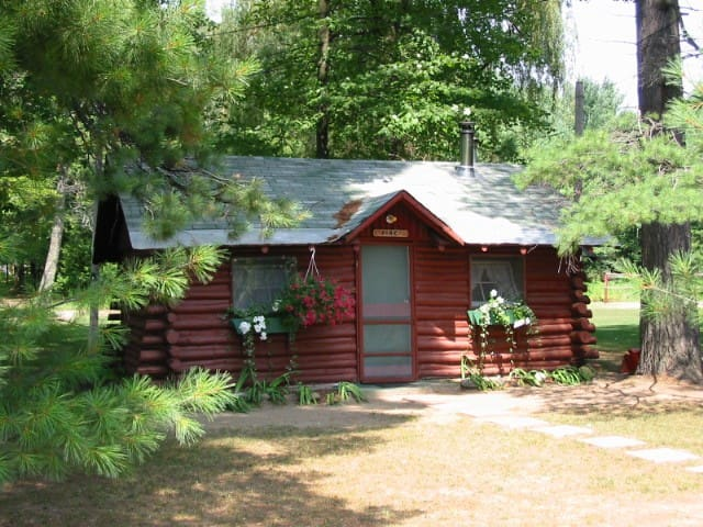 Ellis Lake Resort - Pine Log Cabin-Interlochen
