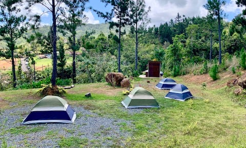 Camping at a beautiful Mountain Refugio Malúa