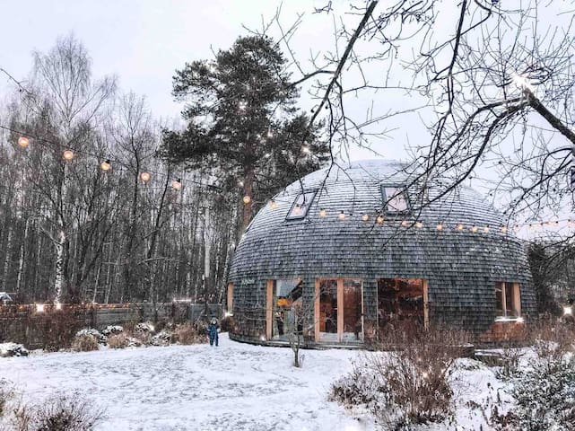 Unique eco dome house