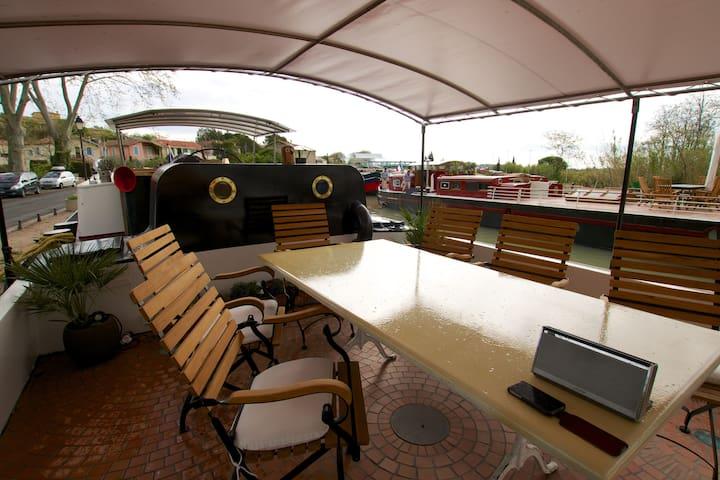 Barge Tango's Cezanne Cabin - Saint-Nazaire-d'Aude