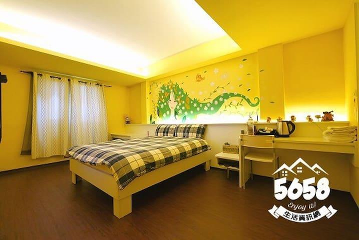 room Taichung Fengjia逢甲一分鐘美魔女風格2人房/一獨立房/一衛浴/一獨立床