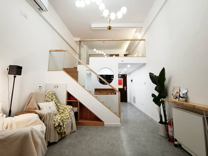 良渚/近地铁/永旺旁loft上下层北欧简约风整套公寓