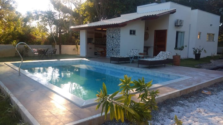 Casa de Praia Climatizada em Guaratiba/ Prado- BA.