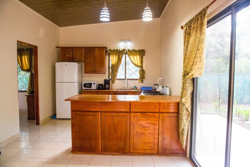 Spacious kitchen for making delicious meals with organic ingredients from the local farmers market.