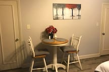Enjoy a meal or a snack or maybe a game at your own private table.