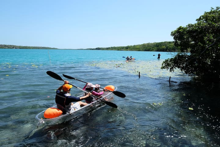 ★Bacalar lagoon★ luxurious lakeside villa★Kayak2