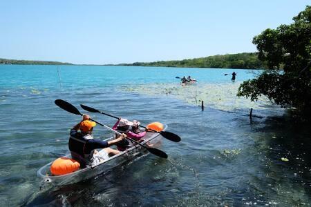★Bacalar lagoon★ luxurious lakeside villa★Kayak2