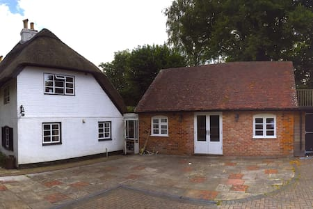 Large modern annexe room & lovely thatched cottage - Abbots Worthy - House