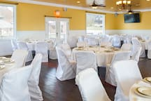 Pipestem Spa, Event Center and Mountain chalet also offers wedding and meeting space a blank canvas to paint with plenty of the amenities included.