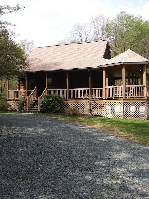 Log Cabin in Country Setting