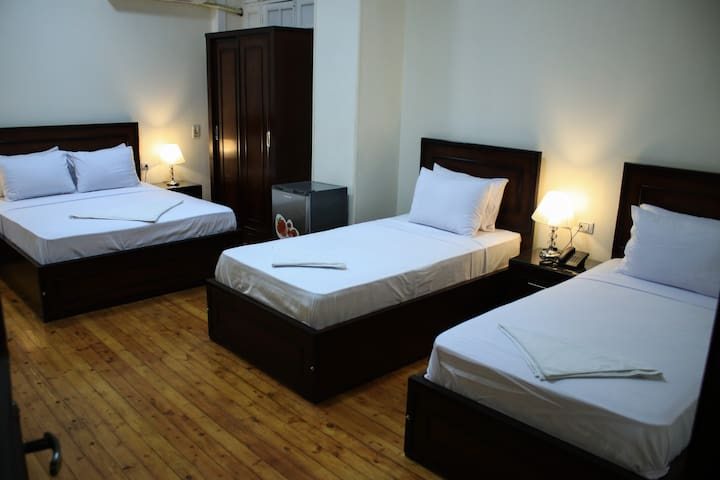 private triple room in downtown Cairo