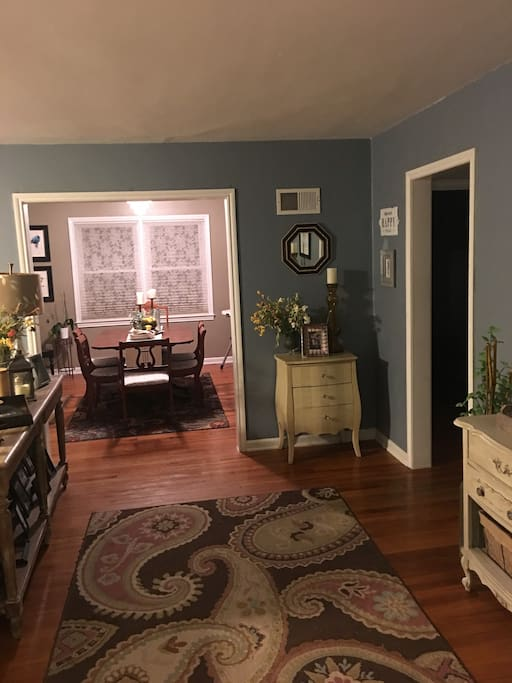 other part of living room, into dining room.