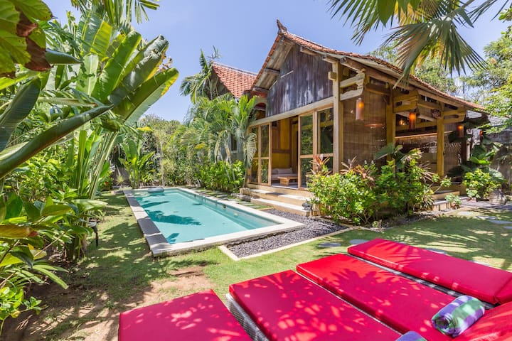 UNIQUE wooden 4bedrooom house, 16m pool REALBALI