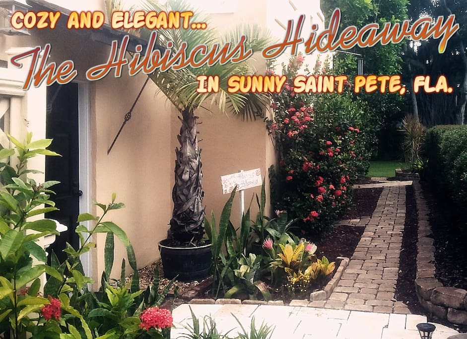 Take home a free postcard! Entrance to the Hideaway.