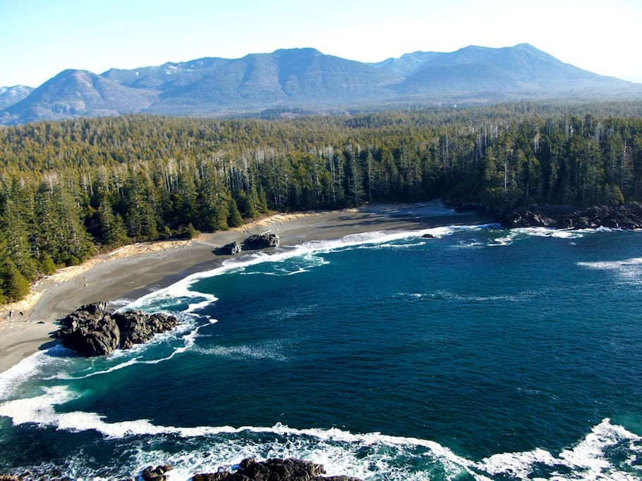 Ucluelet's coast is stunning and perfect for a seaside getaway.