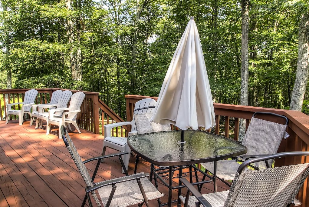 Spend countless hours relaxing on the home's private deck.