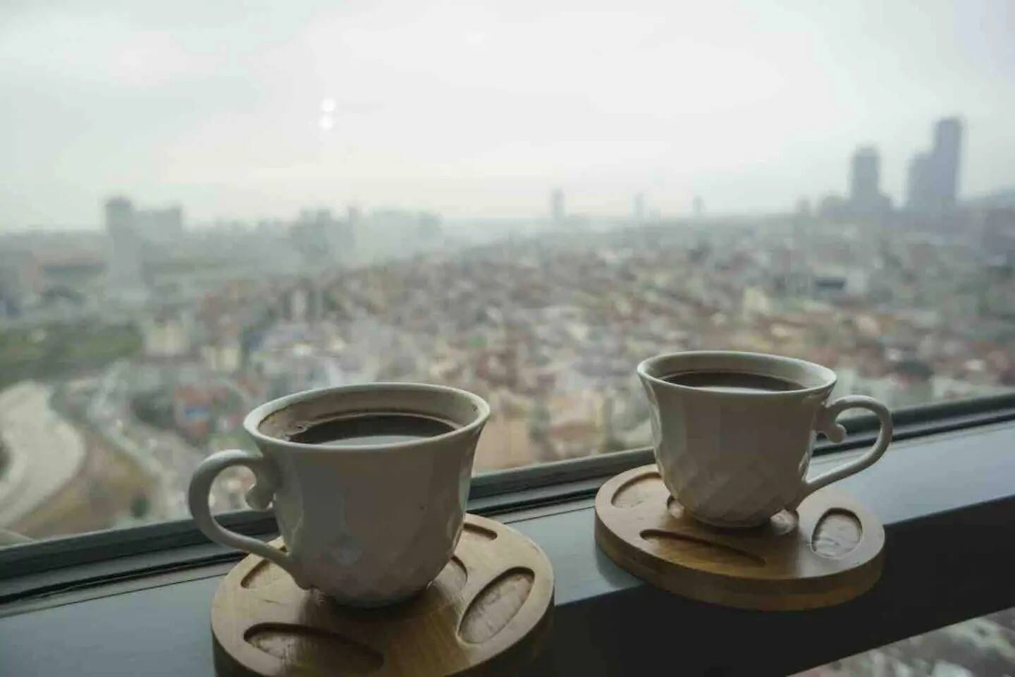 beautiful view deserves a coffee