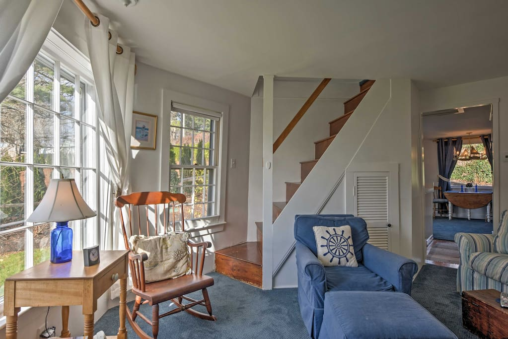 You'll love the nautical decor throughout this windmill property.