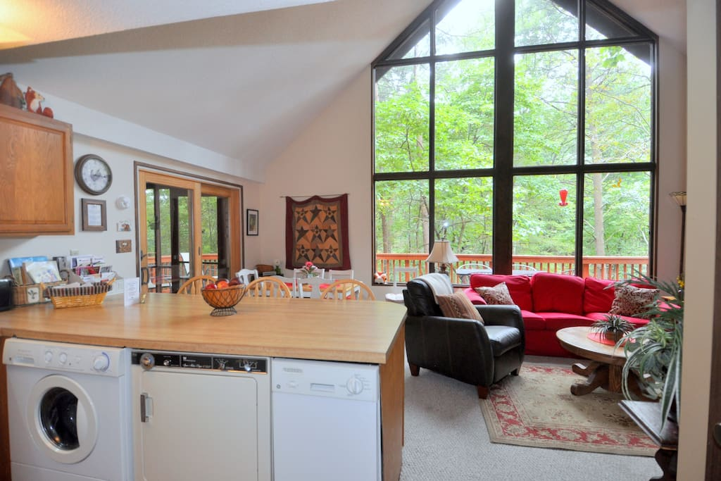 Kitchen also contains a washer and dryer for guests!