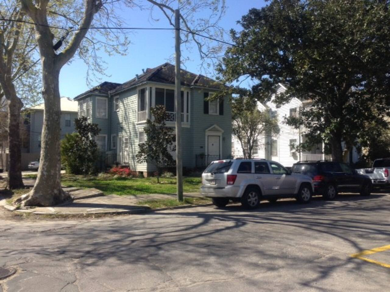 Beautiful Neighborhood, apartment is entire 2nd floor or the carriage house in the rear of this home.