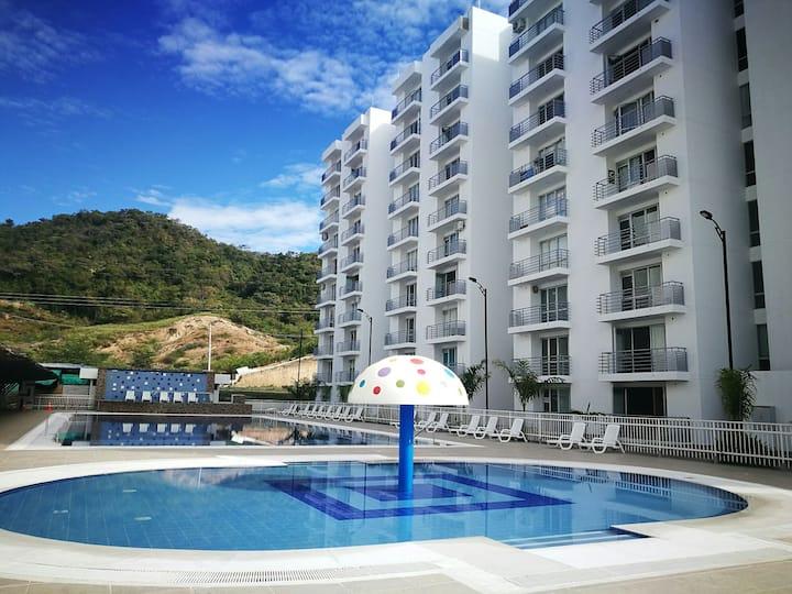 Apartamento totalmente equipado Girardot, C/marca